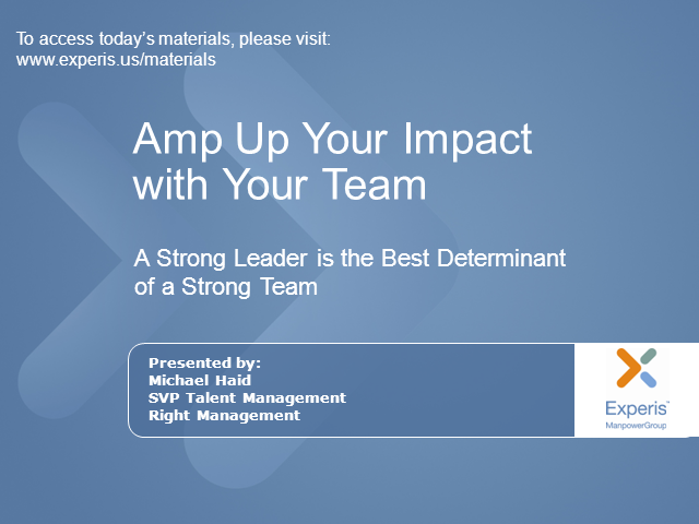 Amp Up Your Impact with Your Team