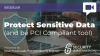 Protect Sensitive Data (and be PCI Compliant, too!)