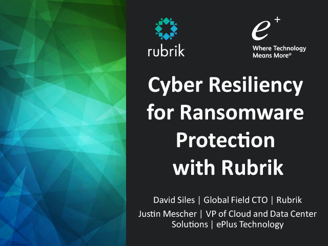 Protecting Your Data's Journey to the Cloud while enabling Cyber Resiliency