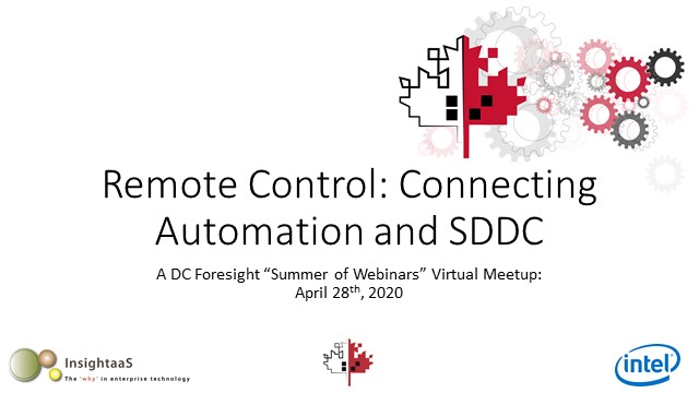"Summer of Webinars Event #1: ""Where Automation Meets SDDC"""