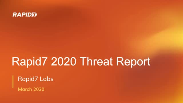 2020 Threat Report