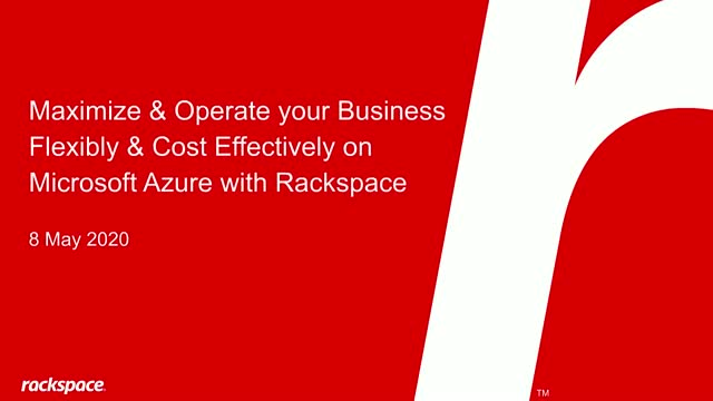 Maximize & Operate your Business Flexibly & Cost Effectively on Microsoft Azure
