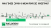 What does COVID-19 mean for ESG investing?