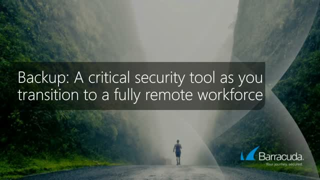 Backup: A critical security tool as you transition to a fully remote workforce