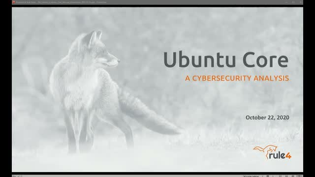 Ubuntu Core: A cybersecurity analysis