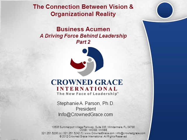 Building Business Acumen - Part II
