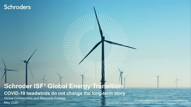 An update on the Energy Transition, with COVID-19 headwinds