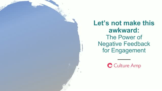 The Power of Negative Feedback for Engagement