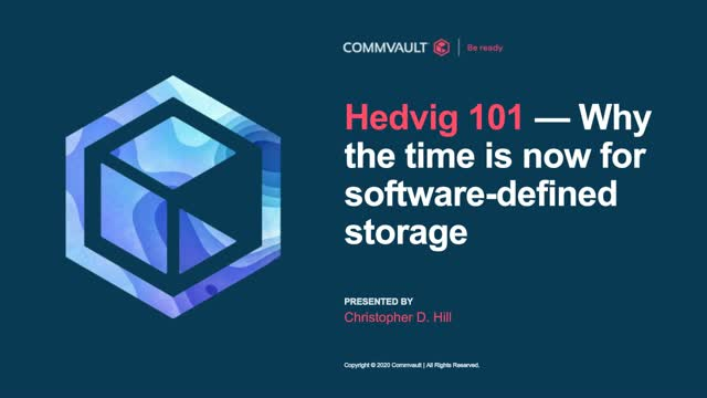 Hedvig 101—why the time is now for software-defined storage