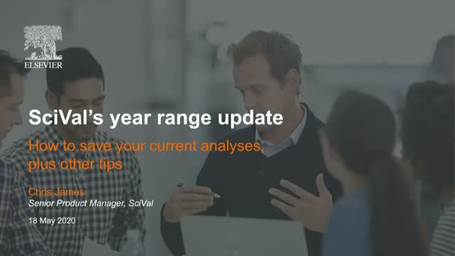 SciVal's year range update - saving current analyses and using report templates