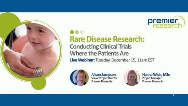 Rare Disease Research: Conducting Clinical Trials Where the Patients Are