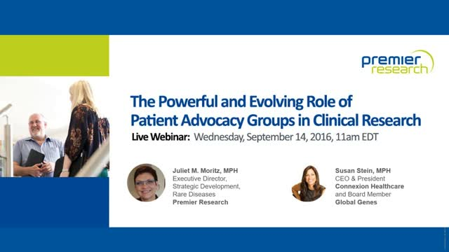 The Powerful and Evolving Role of Patient Advocacy Groups in Clinical Research
