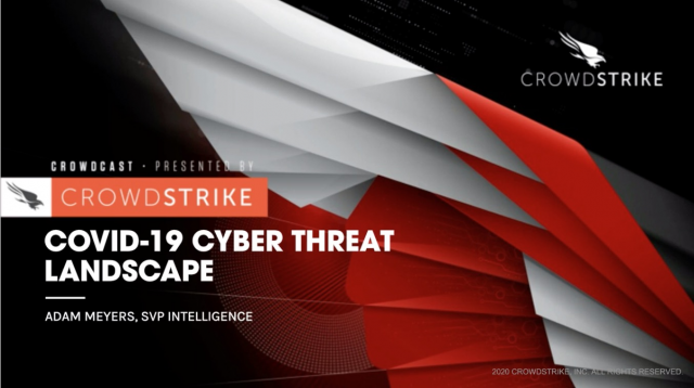 COVID-19 THREAT INTELLIGENCE BRIEFING