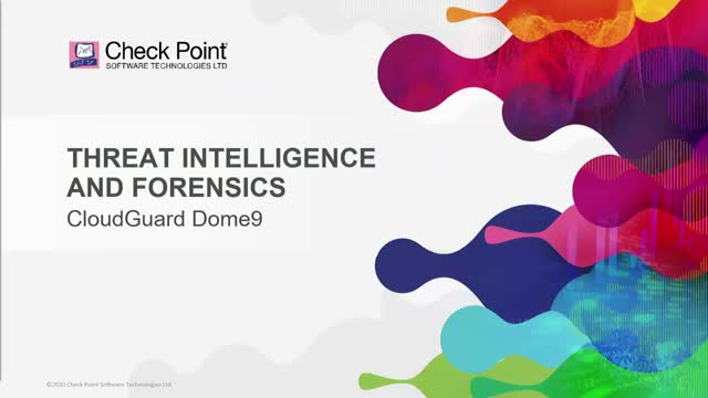 Threat Intelligence and Forensics in CloudGuard Dome9