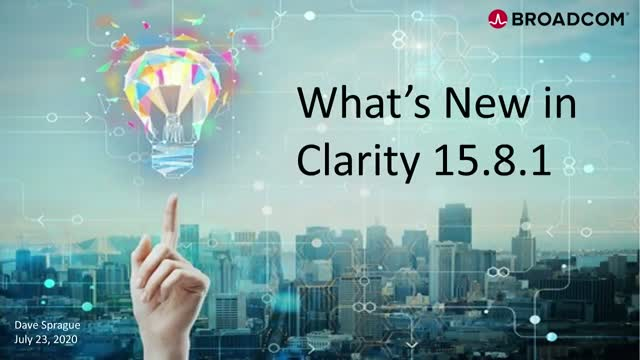 What's New in Clarity 15.8.1