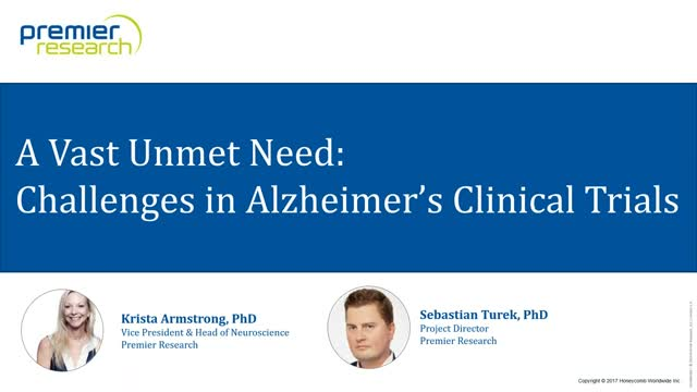 A Vast Unmet Need: Challenges in Alzheimer's Clinical Trials