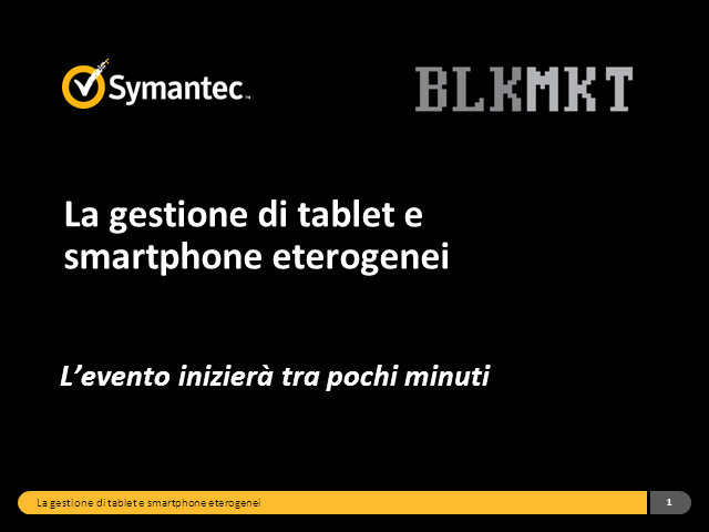 La gestione di tablet e smartphone eterogenei (iOS, Android, Blackberry)