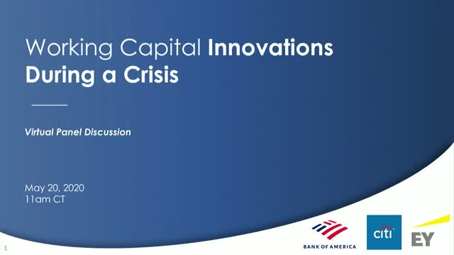 Working Capital Innovations During a Crisis