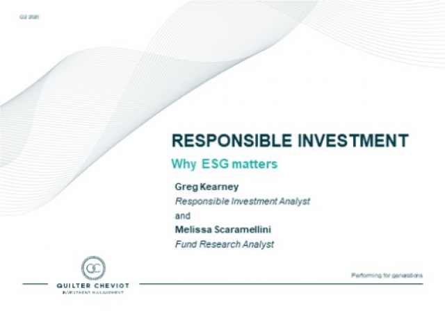 Does ESG really matter?