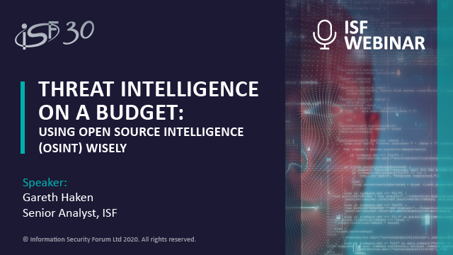 Threat Intelligence on a budget: using Open Source Intelligence (OSINT) wisely