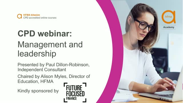 Bitesize CPD webinar: Management and leadership