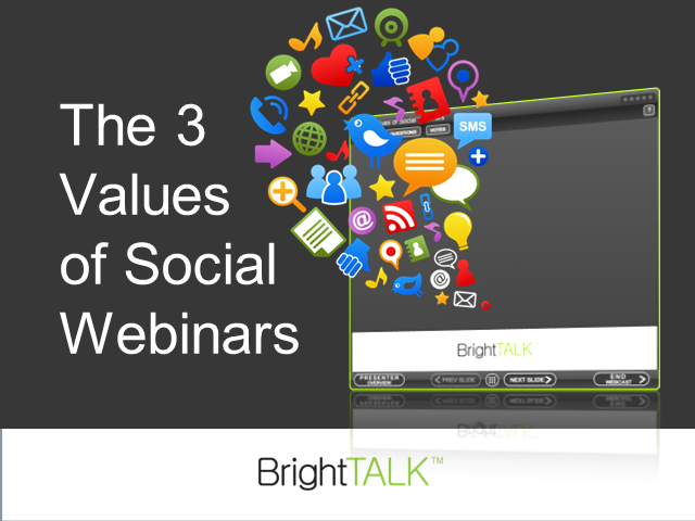 The 3 Values of Social Webinars