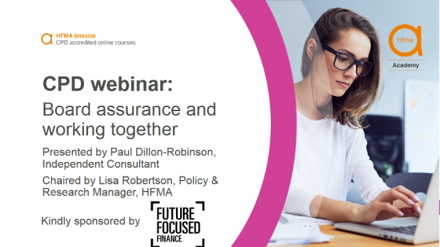 Bitesize CPD webinar: Board assurance and working together