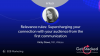 Relevance rules – supercharging your connection with your audience