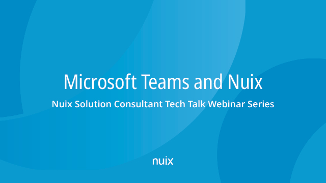 Microsoft Teams and Nuix