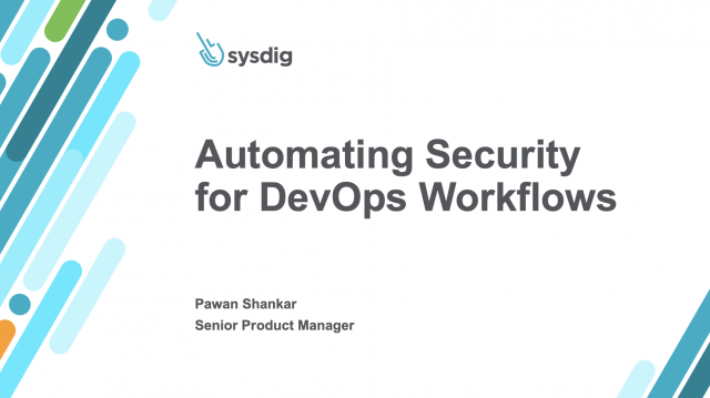 Automating Security for DevOps Workflows
