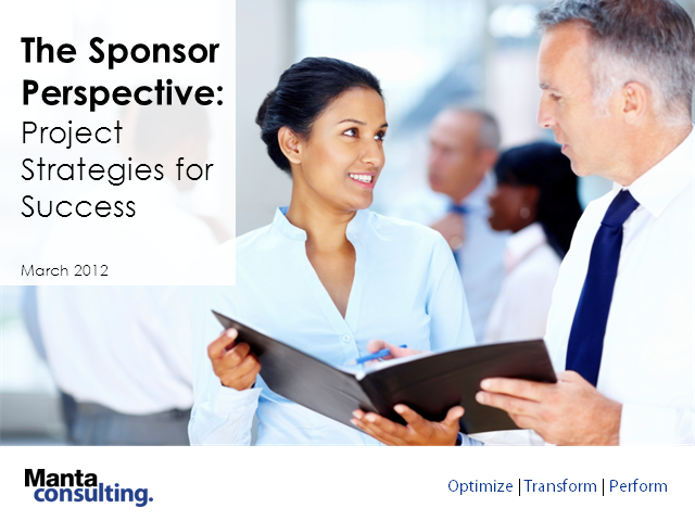 The Sponsor Perspective: Project Strategies for Success