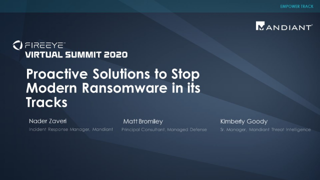 Proactive Solutions to Stop Modern Ransomware in its Tracks