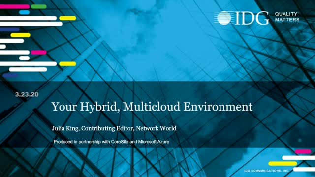 Your Hybrid, Multicloud Environment