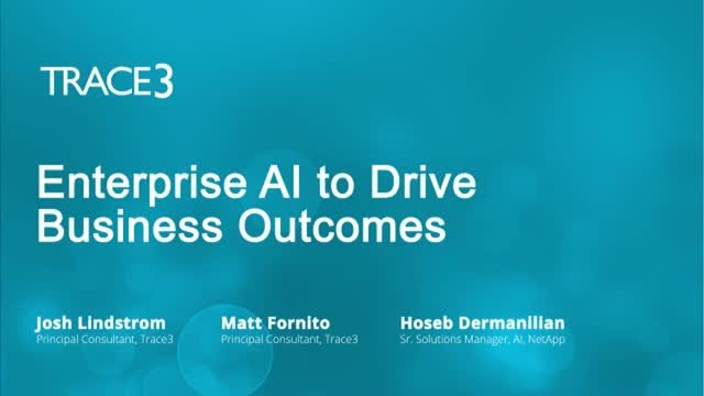 Enterprise AI to Drive Business Outcomes