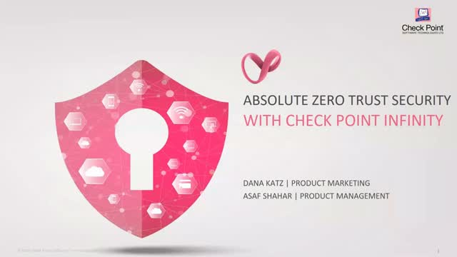 Absolute Zero Trust Security with Check Point Infinity