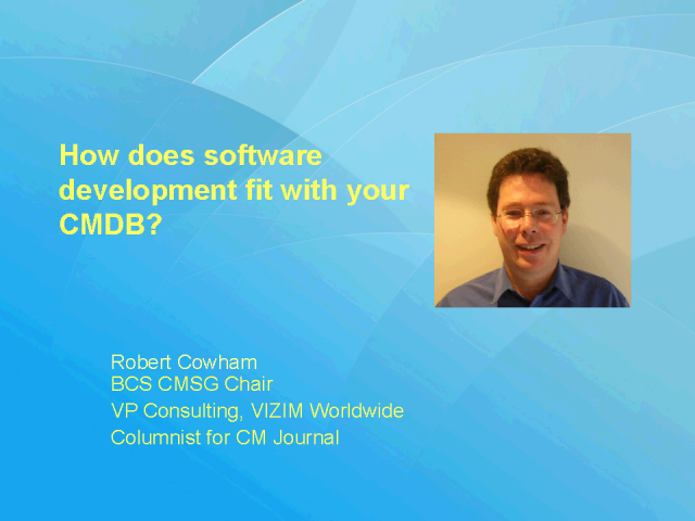 How does Software Development fit with your CMDB?