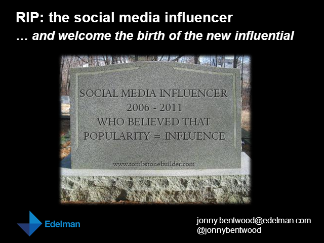 RIP - The Social Media Influencer