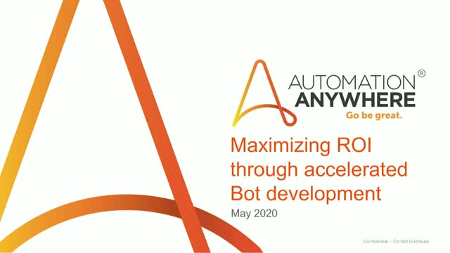 Maximizing ROI through accelerated bot development