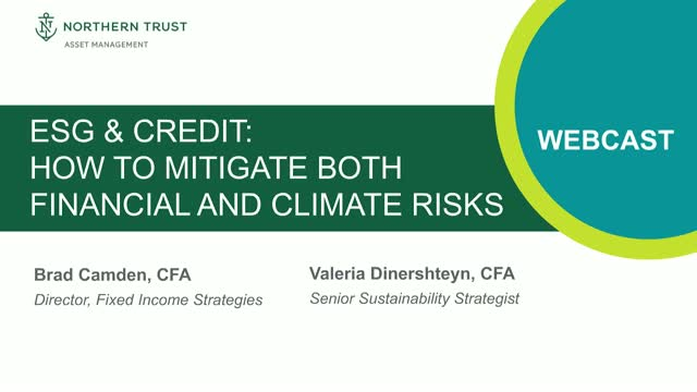 ESG & Credit: How To Mitigate Both Financial And Climate Risks
