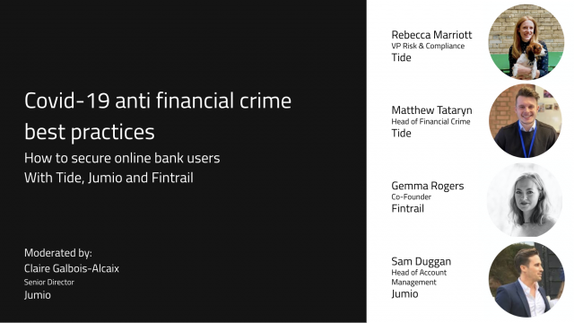 COVID-19 Anti Financial Crime Best Practices: How to Secure Online Bank Users