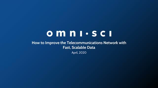 How to Improve the Telecommunications Network with Fast, Scalable Data