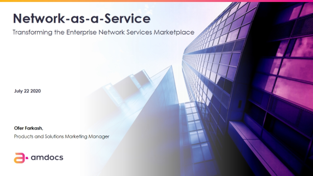 Network-as-a-Service (NaaS): Transforming the Enterprise Network Services Market