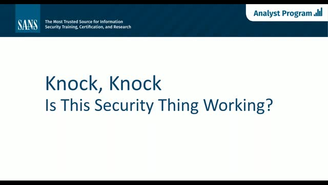 Knock, Knock: Is This Security Thing Working?