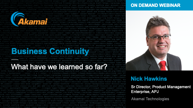 Business Continuity - what have we learned so far?