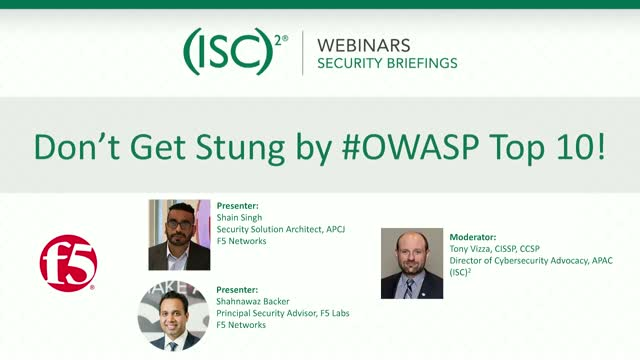 Don't Get Stung by #OWASP Top 10!