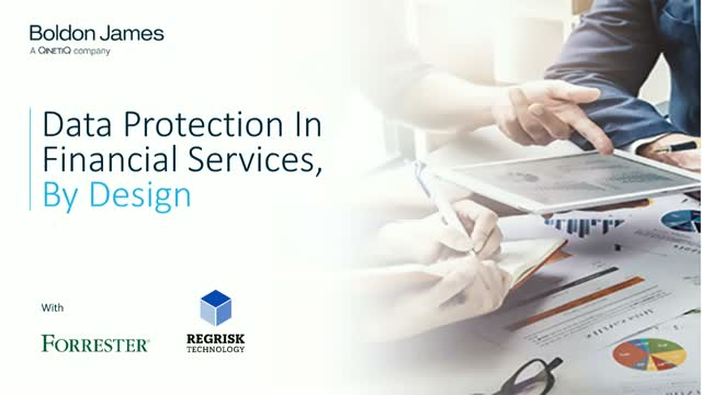 Data Protection In Financial Services, By Design