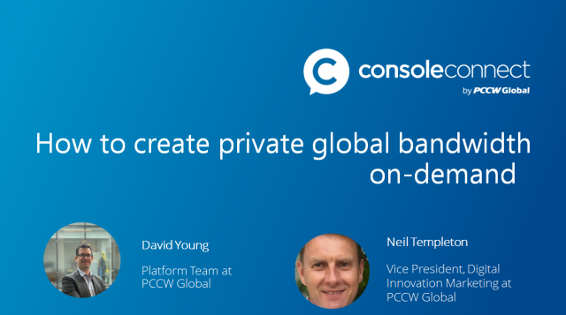 Learn how to create private global bandwidth on-demand between networks & clouds