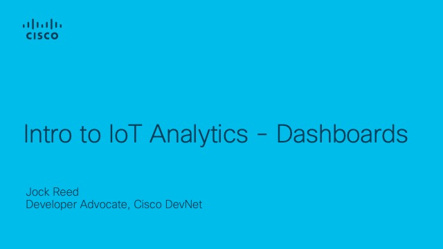 Intro to IoT Analytics - Dashboards