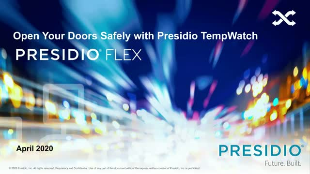 Open Your Doors Safely with Presidio TempWatch