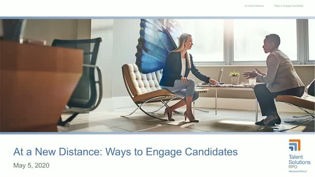At a New Distance: Ways to Engage Candidates